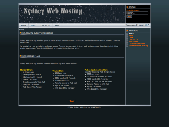 Sydney Web Hosting on 10Hostings