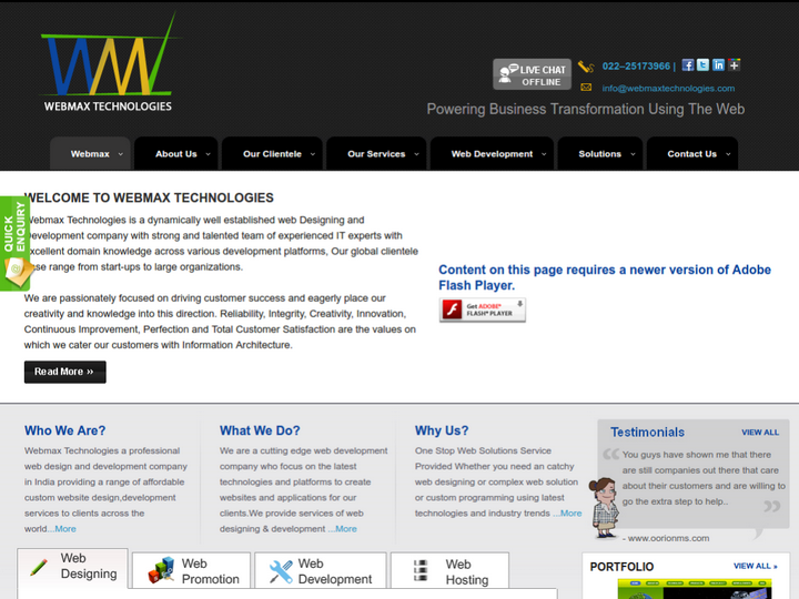 Webmax Technologies on 10Hostings