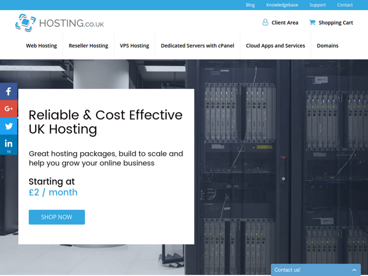 Hosting.co.uk on 10Hostings