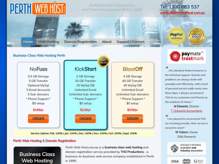 Perth Web Hosting on 10Hostings
