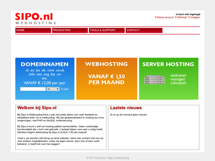 Sipo.nl on 10Hostings