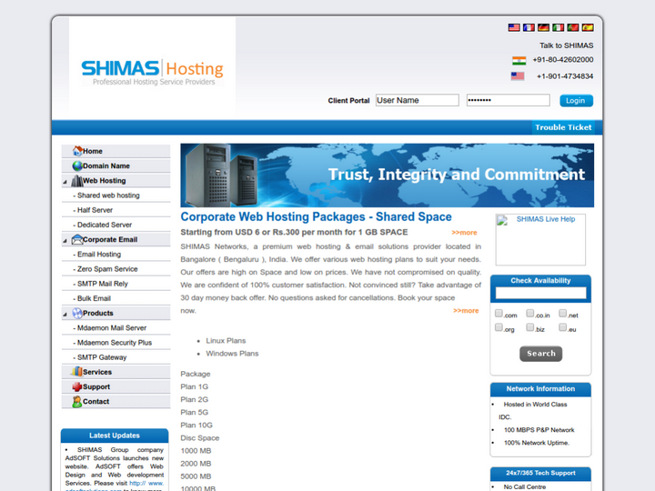 SHIMAS Networks Pvt Ltd on 10Hostings