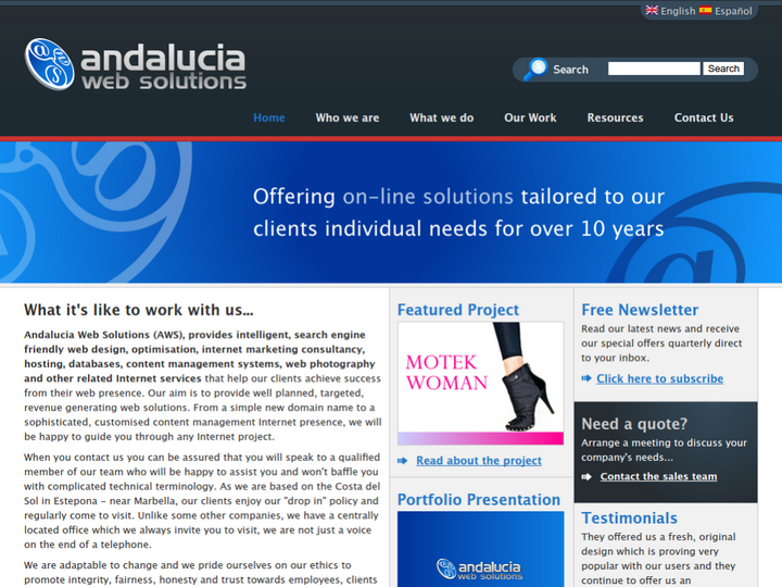 Andalucia Web Solutions on 10Hostings
