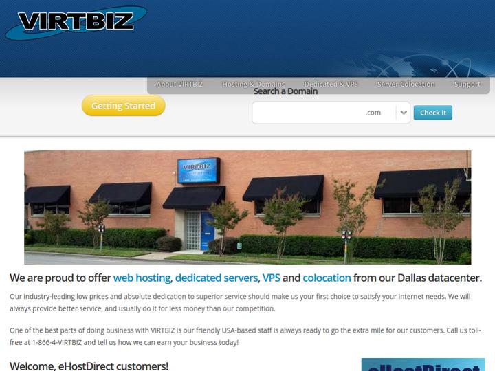 VIRTBIZ Internet Services on 10Hostings