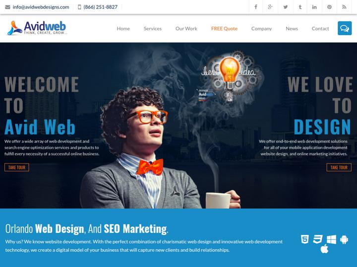 Avid Web Design & Marketing on 10Hostings