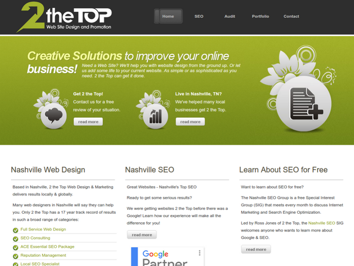 2theTop Web Site Design & Promotion on 10Hostings