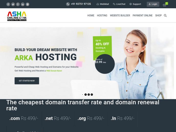Asha Online Solution on 10Hostings