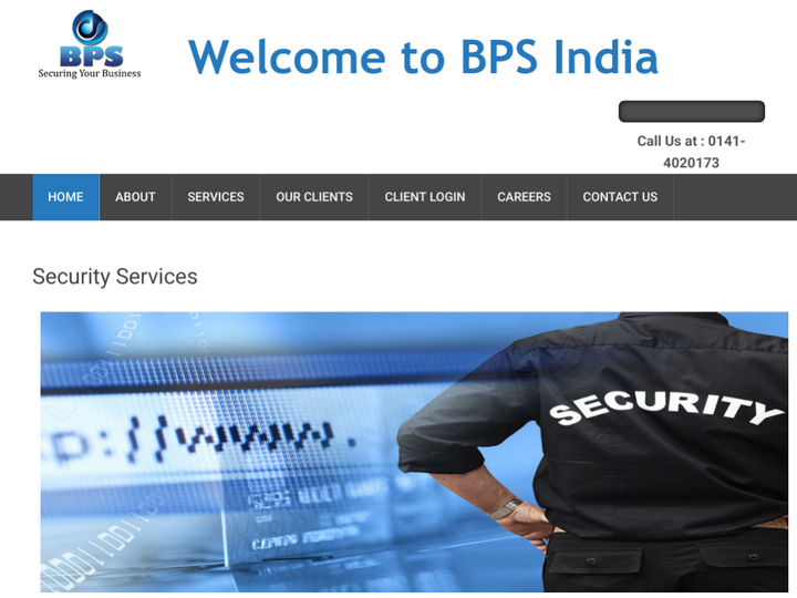 BPS INDIA SECURITY SERVICES on 10Hostings