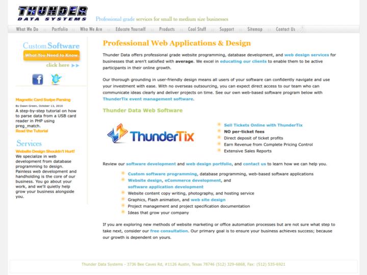 Thunder Data Systems, Inc. on 10Hostings