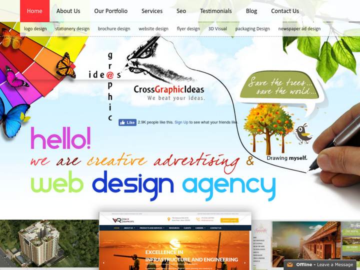 Cross Graphic Ideas -  Web Design Jaipur and Website Development Services on 10Hostings