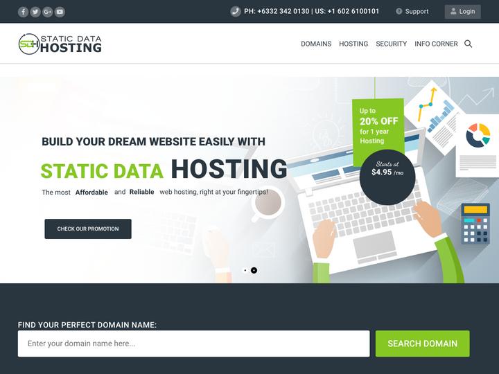 Static Data Hosting on 10Hostings
