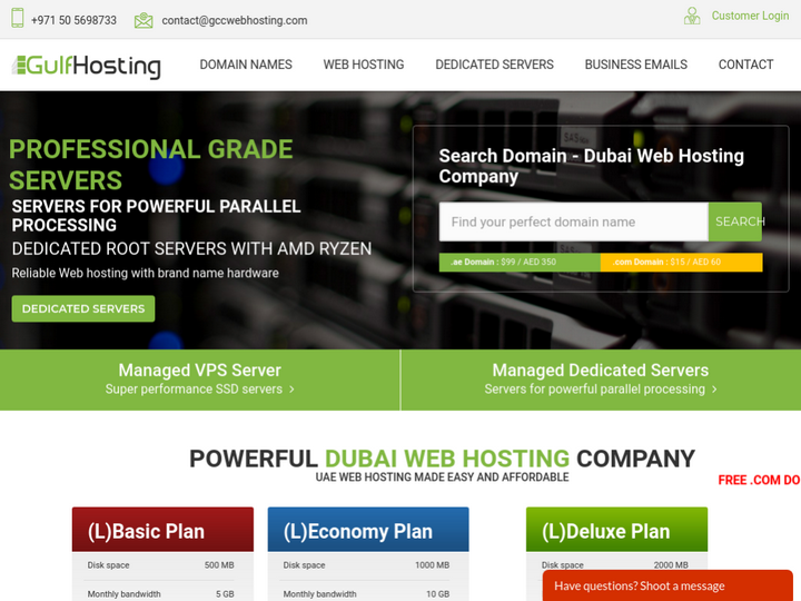 GCC Web Hosting on 10Hostings