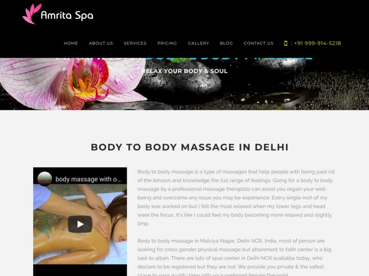 Full Body to Body Massage Parlour in Malviya Nagar Delhi on 10Hostings