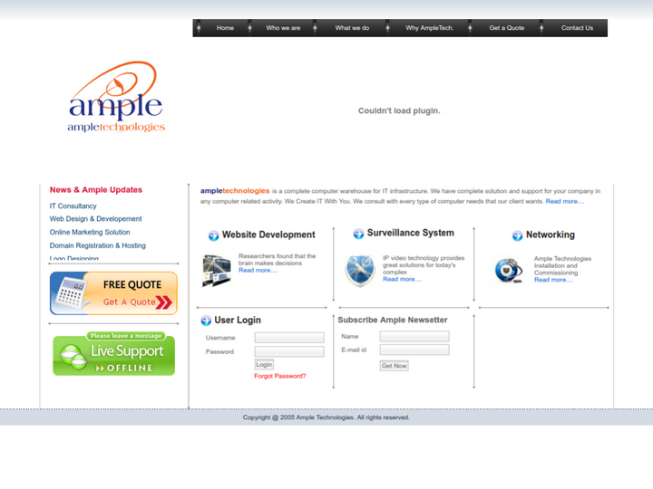 Ample Technologies on 10Hostings