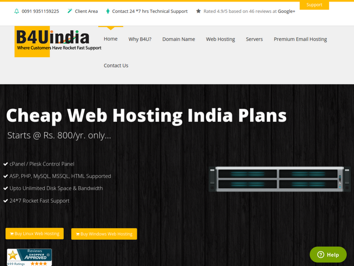 B4UIndia Web Technologies on 10Hostings