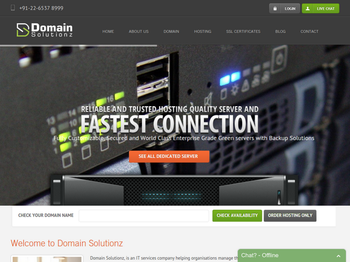 Domain Solutionz on 10Hostings