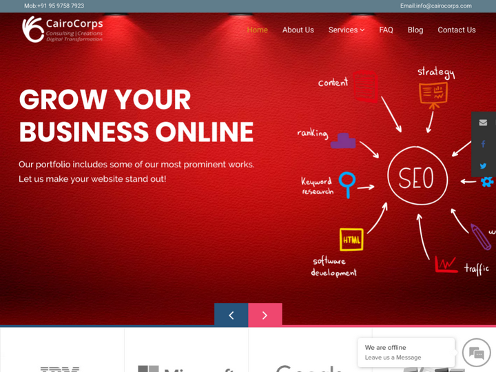 CairoCorps Consulting - Web Design Company in Bangalore on 10Hostings