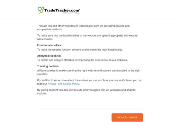 TradeTracker on 10Hostings