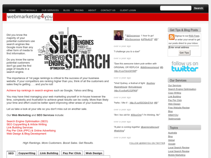 Webmarketing4you on 10SEOS