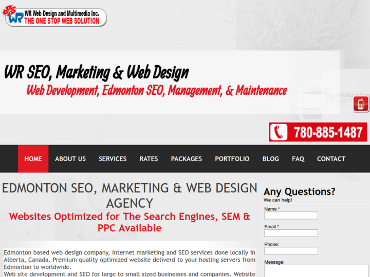 WR Web Design and Multimedia Inc. on 10SEOS