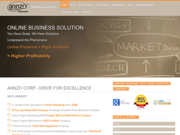 Annzo Corporation on 10SEOS