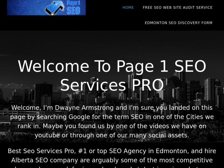 Page 1 SEO Services PRO on 10SEOS