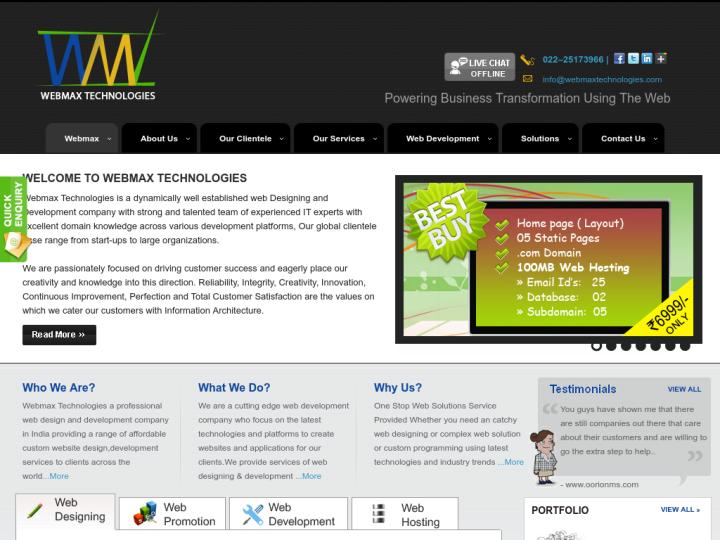 Webmax Technologies on 10SEOS
